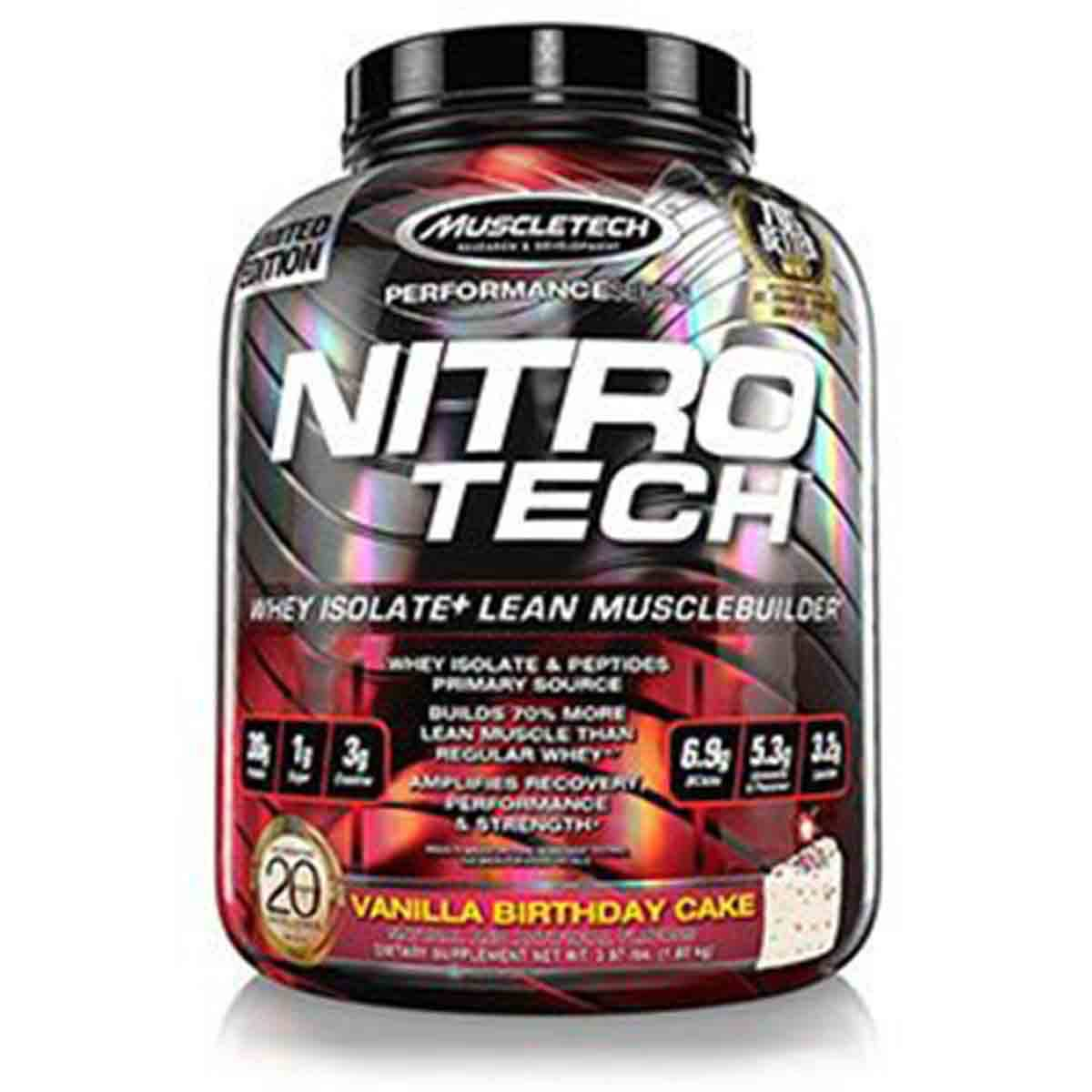 Nitro-Tech Muscle-Tech Vanilla Birthday Cake